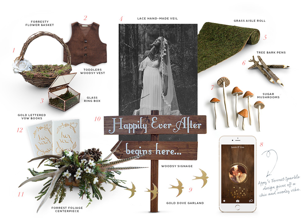 Appy's pick from Etsy for a woodland wedding