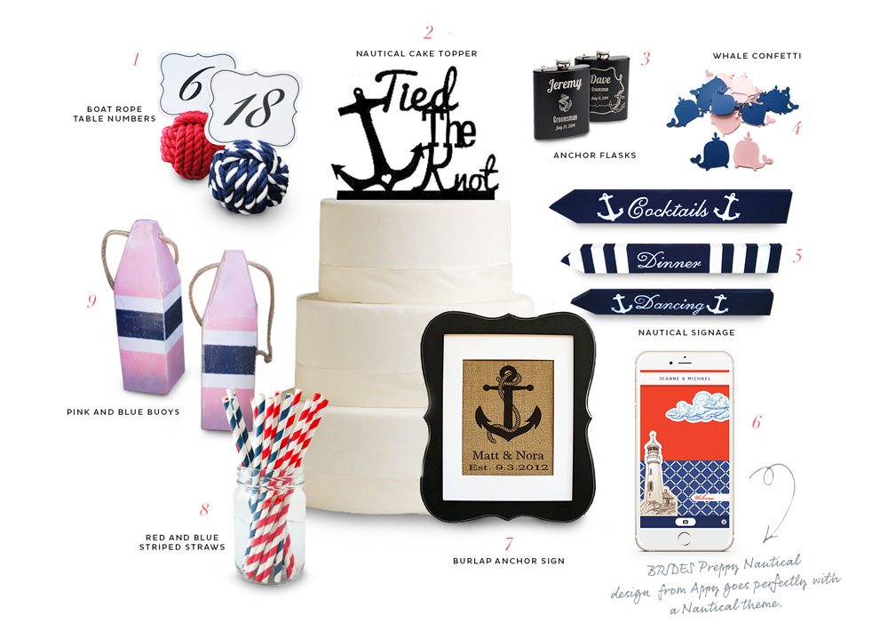 Nautical wedding decor picks from Etsy currated by Appy Couple