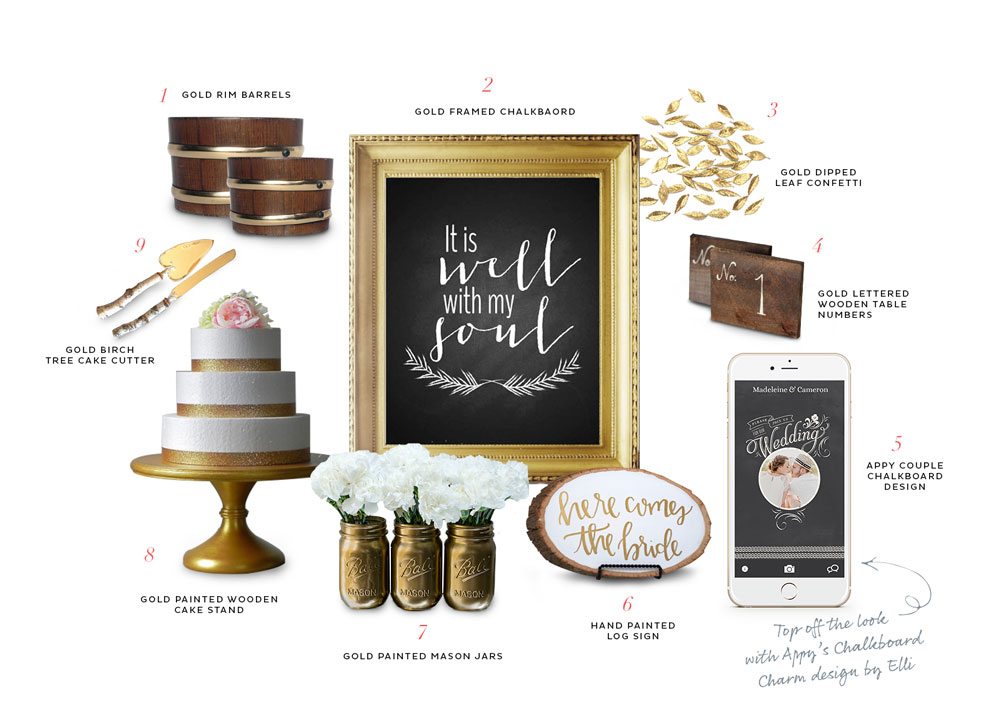Appy Couple's Rustic Glam decor picks from Etsy
