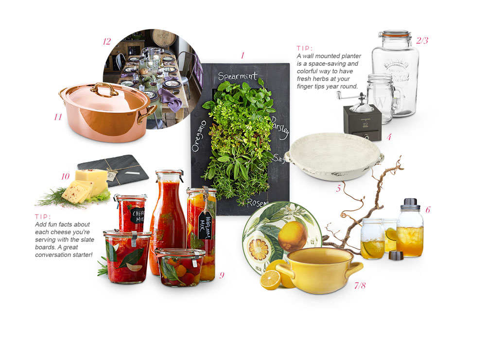 Williams-Sonoma rustic essential wedding gifts