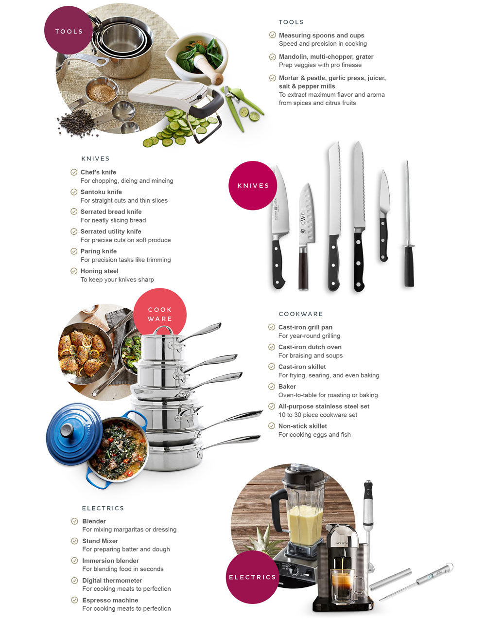 Williams-Sonoma wedding gifts for a well equipped kitchen