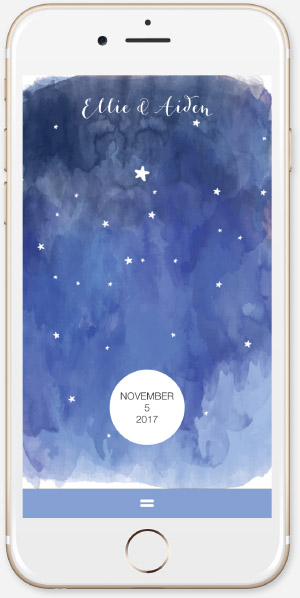 Starry Nights in Watercolor App