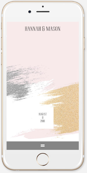 Brushed Glitter - Rose App
