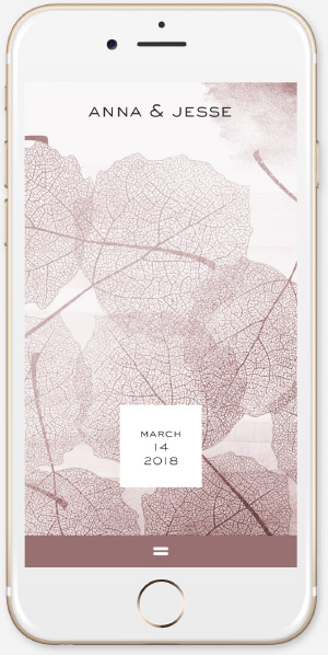 Rose Gold leaves App