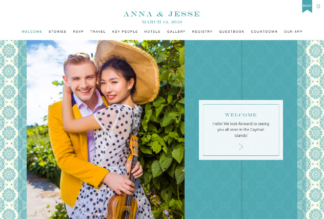 Rare Turquoise multi-pages website layout
