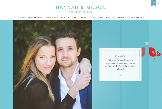 Lovebirds multi-pages website layout