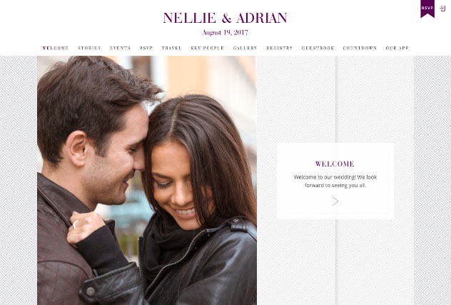 Truly Together Purple multi-pages website layout