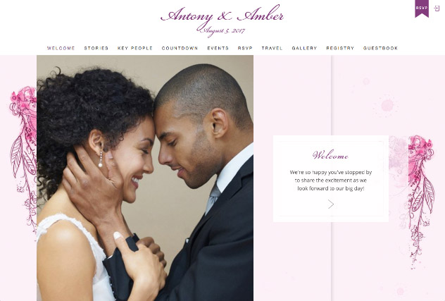 Painterly Passion Pink 2 multi-pages website layout