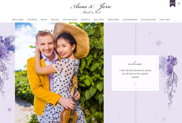 Painterly Passion Purple multi-pages website layout