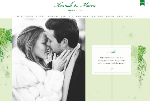 Painterly Passion Green 2 multi-pages website layout