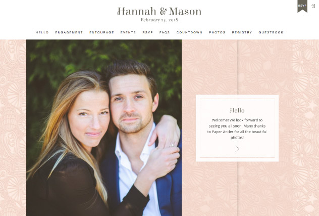 Beach Chic multi-pages website layout