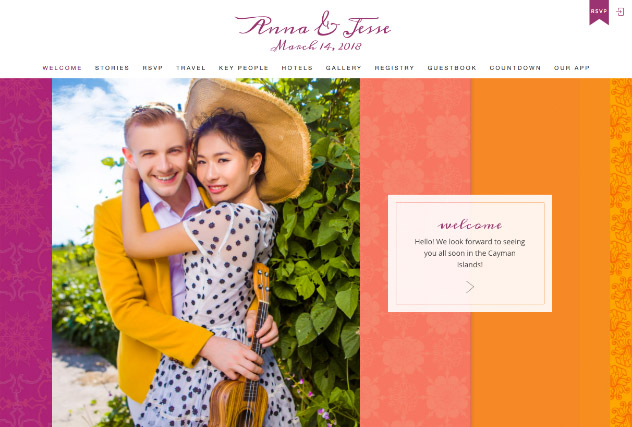 Melange multi-pages website layout