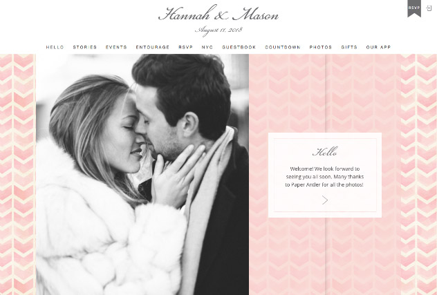 Pink Lady multi-pages website layout