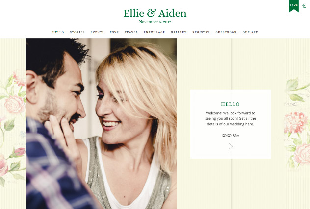 Springtime Southern multi-pages website layout