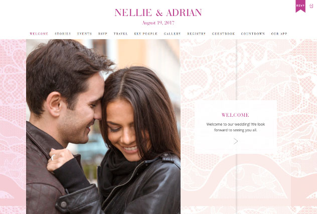 Perfectly Pink multi-pages website layout