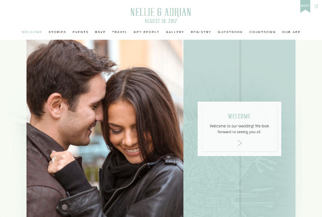 Walking City Love - Boston multi-pages website layout