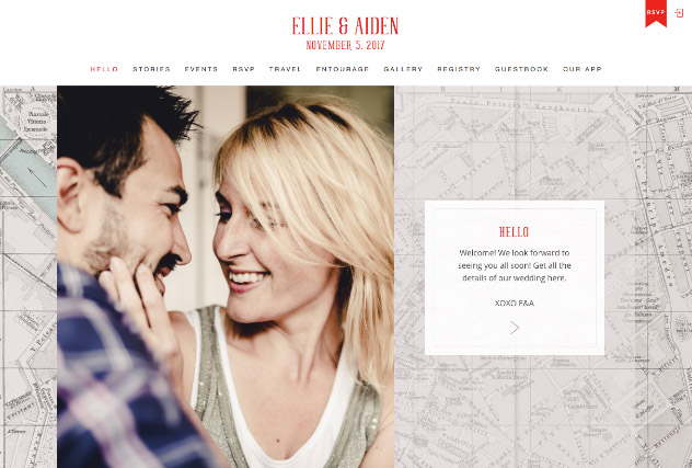 Romantic City Love – Florence multi-pages website layout