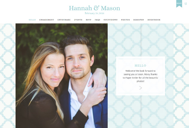 Southern Belle multi-pages website layout