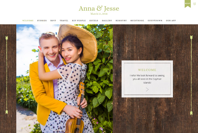 Rustic Barn in Lime multi-pages website layout