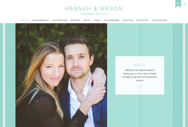 Sea Glass Stripe multi-pages website layout