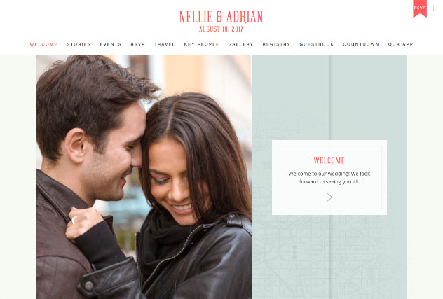 Capital City Love,  DC in Coral multi-pages website layout
