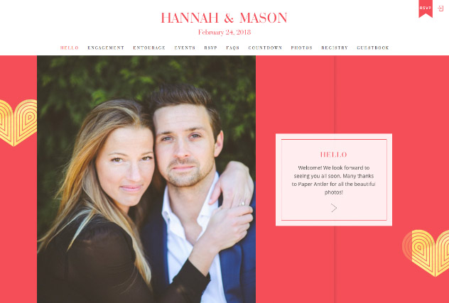 Red Heart Deco multi-pages website layout