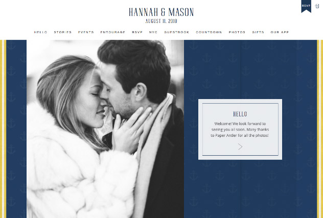 Nautical multi-pages website layout