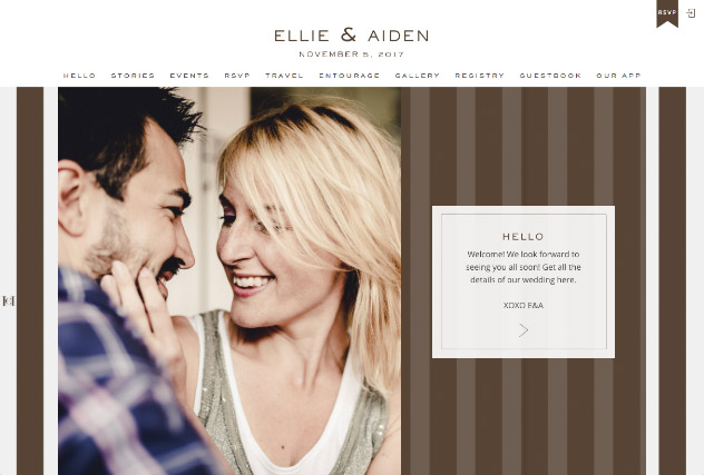 House Stripes by Carolina Herrera multi-pages website layout