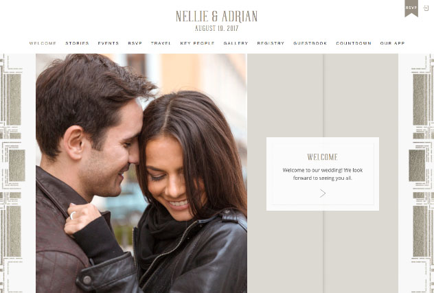 Champagne Deco multi-pages website layout