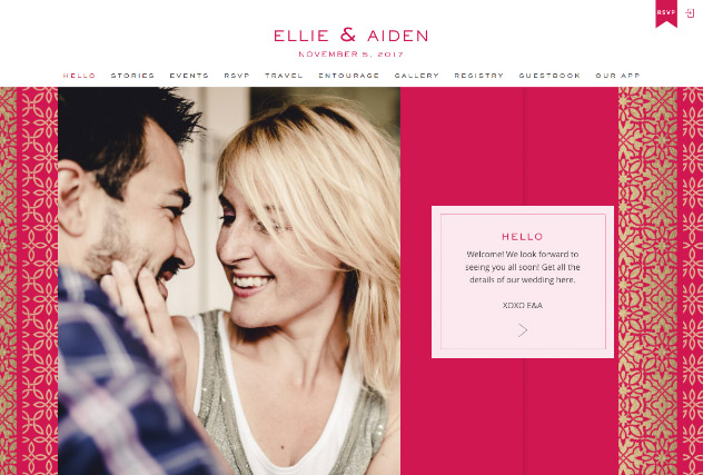 Casablanca Pink multi-pages website layout