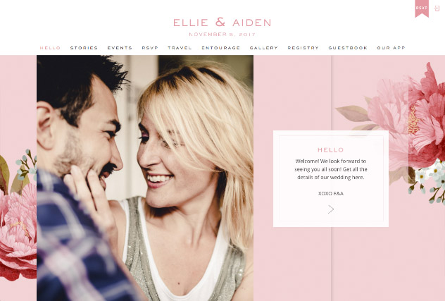 Blushing multi-pages website layout