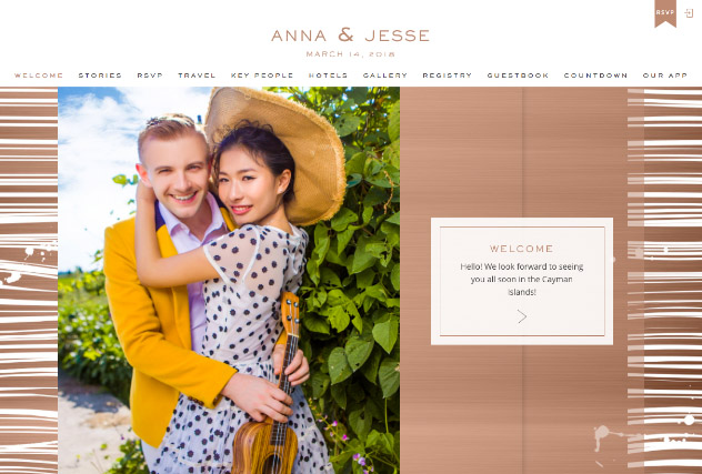 Copper Chic multi-pages website layout