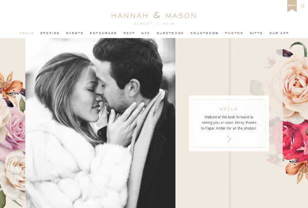 Fresh Blossoms multi-pages website layout