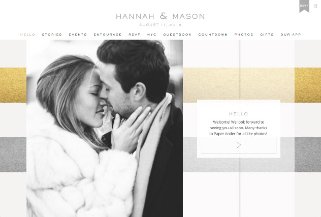 Striped Modern multi-pages website layout