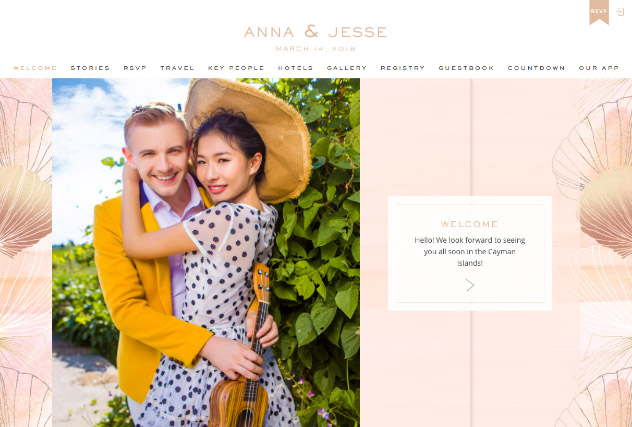 Sunset Sands multi-pages website layout