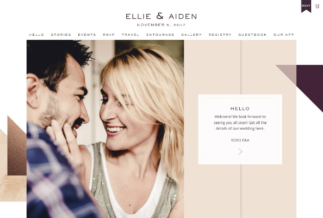 Bronze Colorblock multi-pages website layout