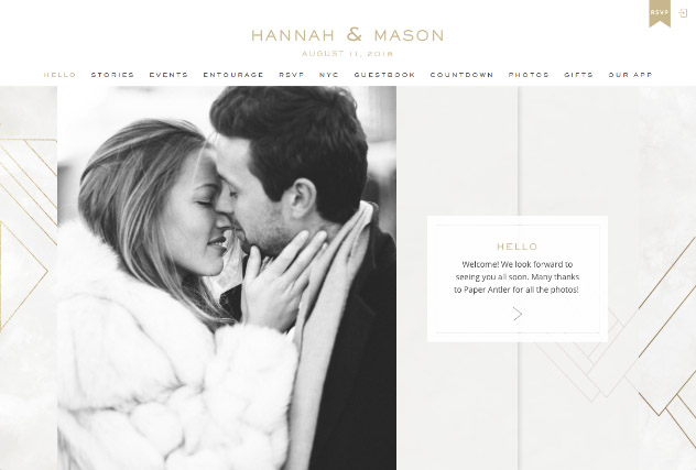 Modern Marble multi-pages website layout