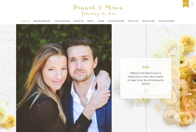 Golden Hues multi-pages website layout