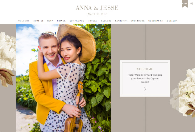 Classic Floral - Neutral multi-pages website layout