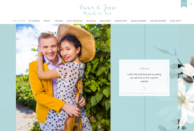 Painted Magnolias - Powder multi-pages website layout