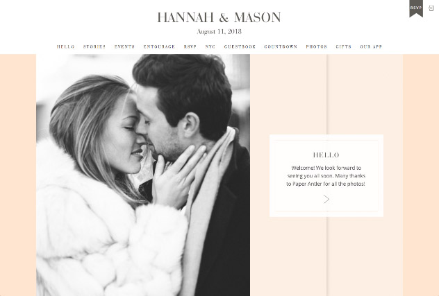 Truly Peach multi-pages website layout