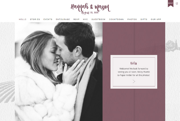 Rustic Vineyard multi-pages website layout