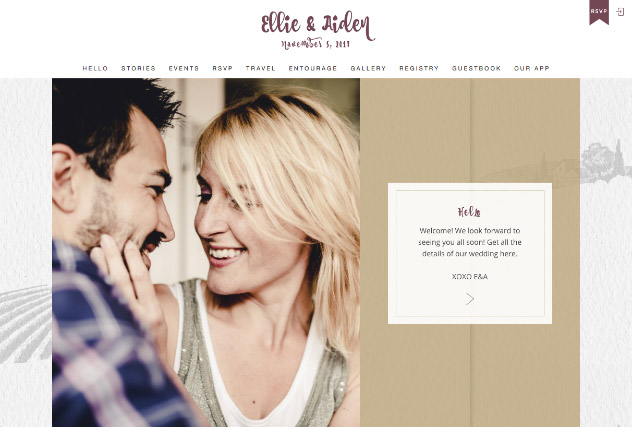Rustic Vineyard - Gold multi-pages website layout