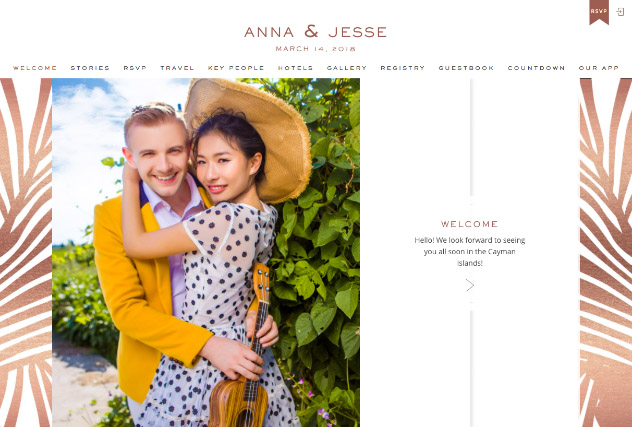 Resort Rose Gold multi-pages website layout