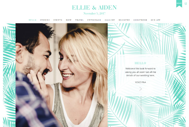 Aqua Fern multi-pages website layout