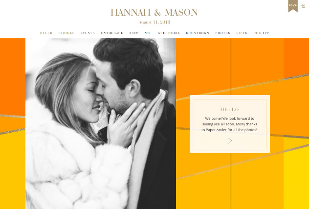 Sunrise Colorblock multi-pages website layout