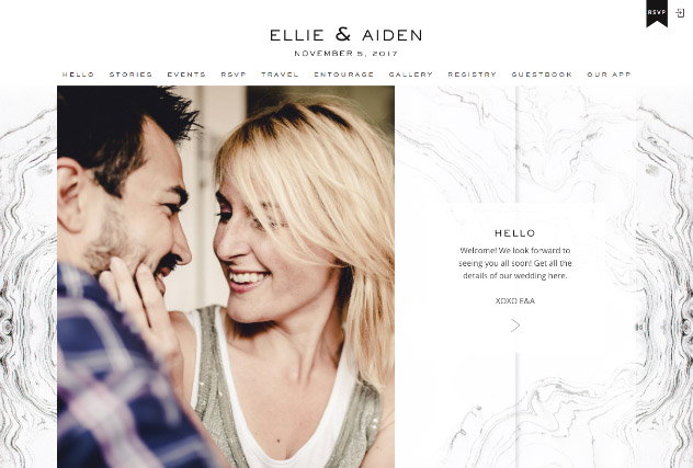 Tuscan marble multi-pages website layout