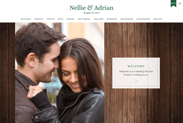 Adventurer Green & Gold multi-pages website layout