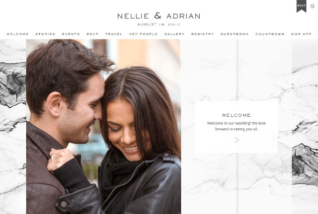 Erin Marble multi-pages website layout