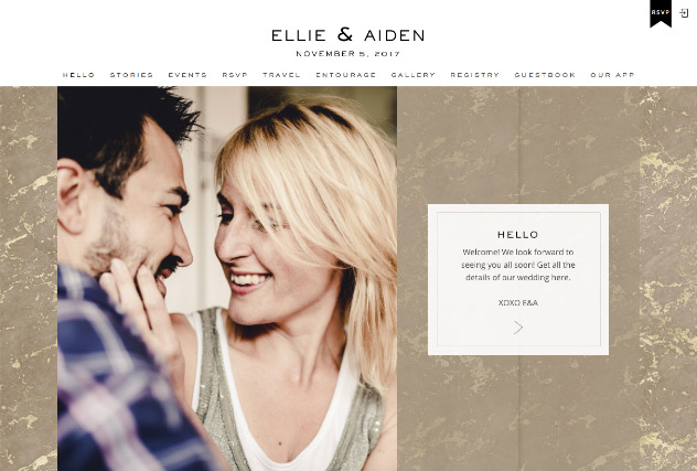 Gold Veined Marble - Kraft multi-pages website layout